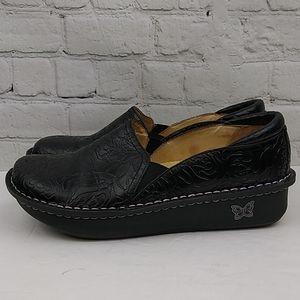Alegria DEB-531 Black Leather Clog Size 40l